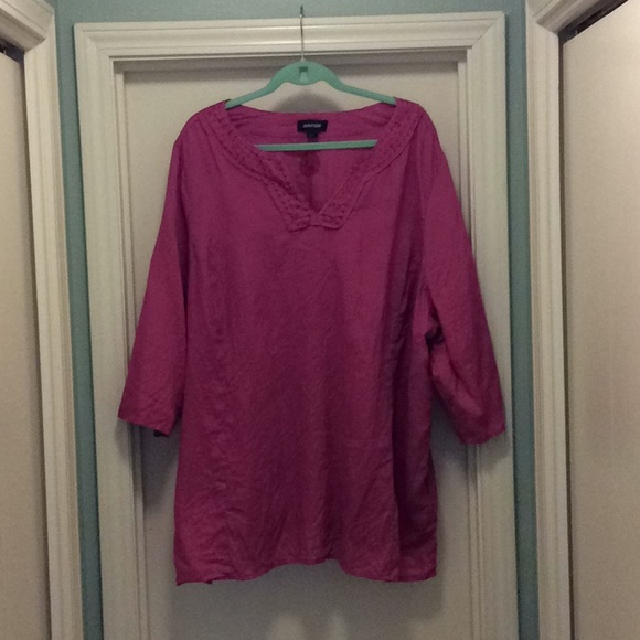 Avenue Tops - Pink Linen Tunic 24/26